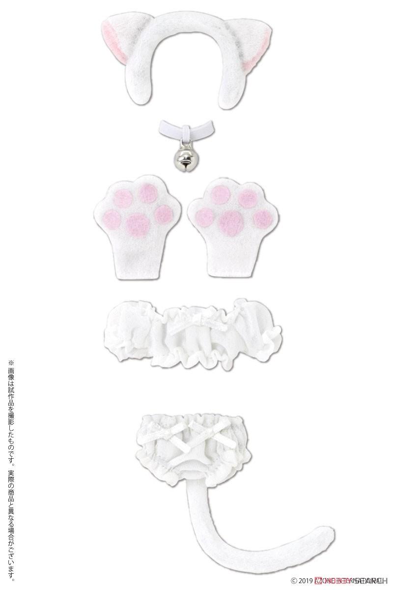 ピコニーモサイズ コスチューム『ふわくしゅ にゃんこセット ブラック』1/12 ドール服-004
