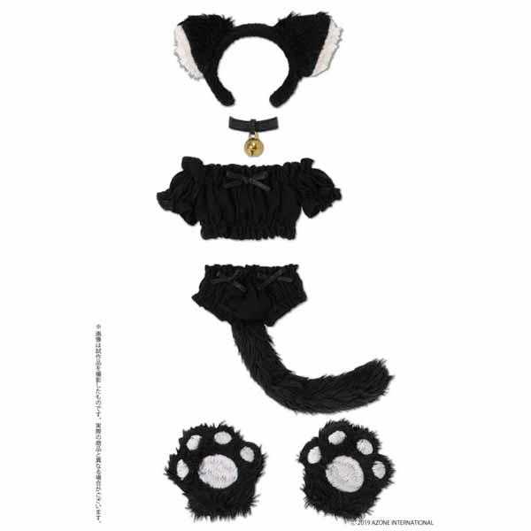 ピュアニーモ用 PNS『ふわくしゅ にゃんこセット ブラック』1/6 ドール服