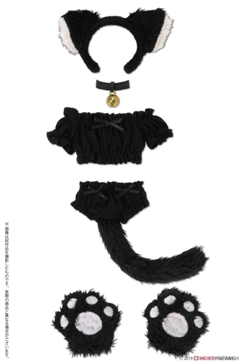 ピュアニーモ用 PNS『ふわくしゅ にゃんこセット ブラック』1/6 ドール服-001