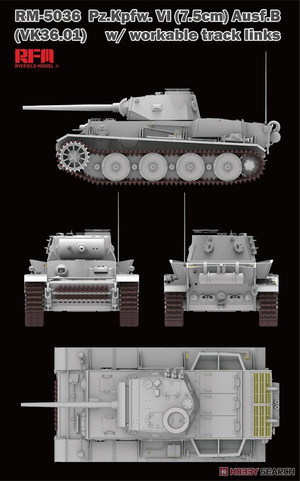1/35『ドイツ VI号戦車 B型(vk36.01)』プラモデル-003