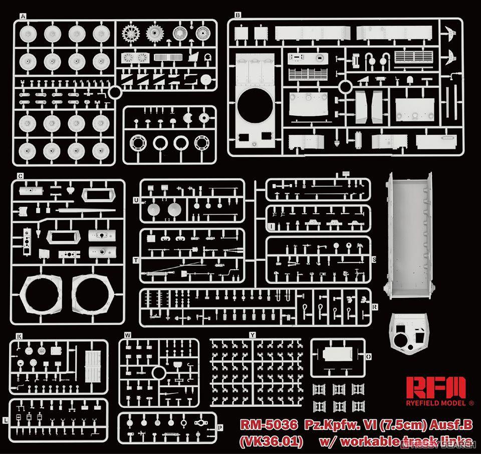 1/35『ドイツ VI号戦車 B型(vk36.01)』プラモデル-004