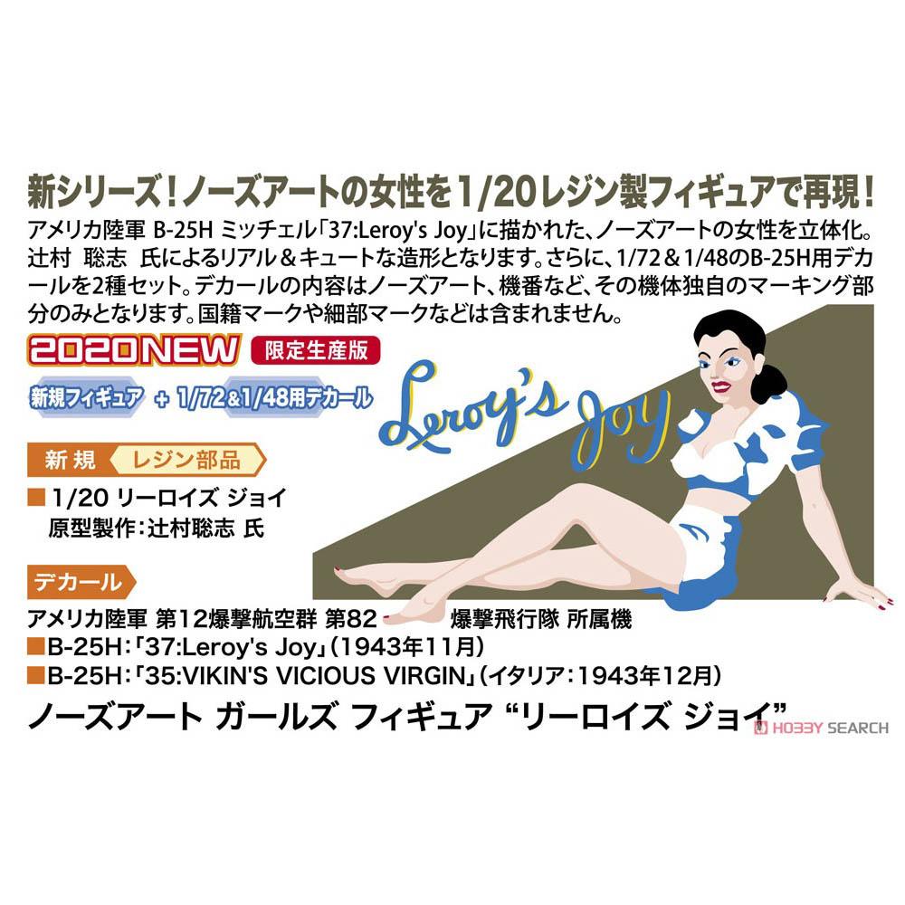 1/20 ノーズアート ガールズフィギュア『リーロイズ ジョイ』プラモデル-006