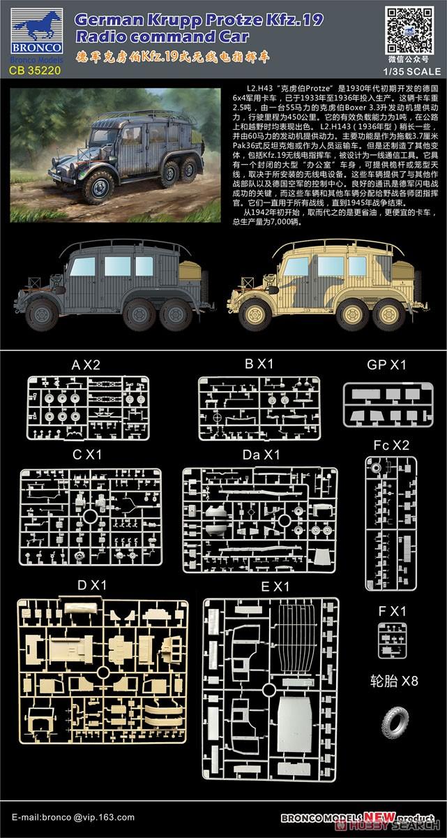 1/35『独・クルップ・プロッツェKfz.19無線指揮車』プラモデル-003