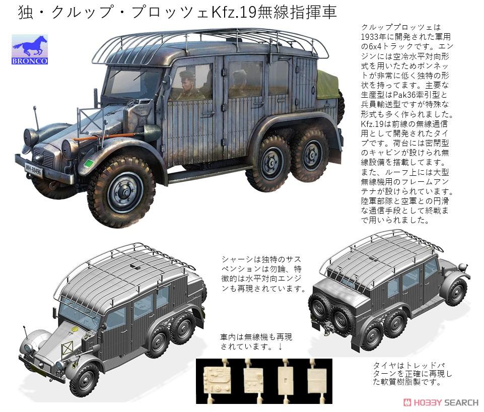 1/35『独・クルップ・プロッツェKfz.19無線指揮車』プラモデル-004