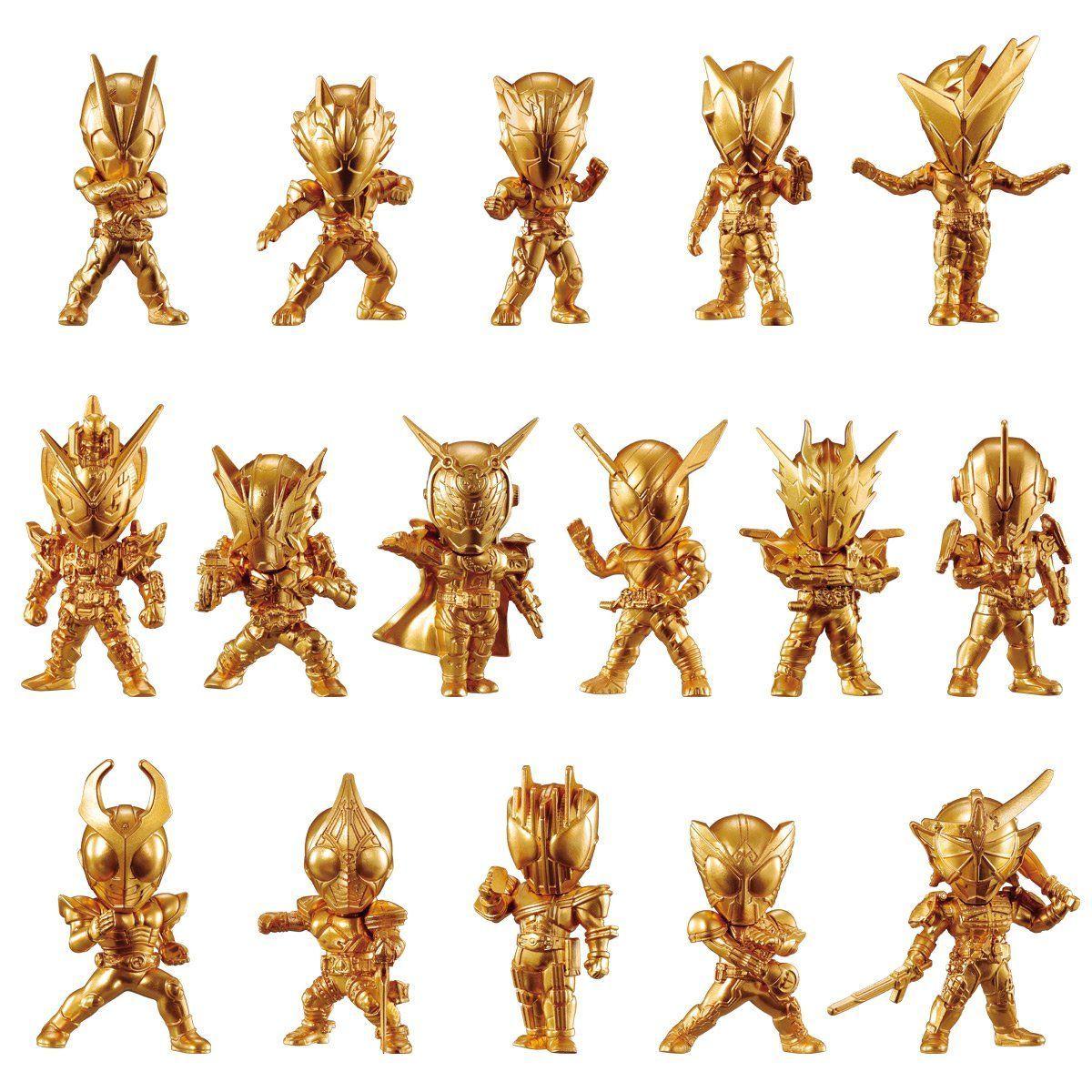 【食玩】『仮面ライダーゴールドフィギュア01』16個入りBOX-001