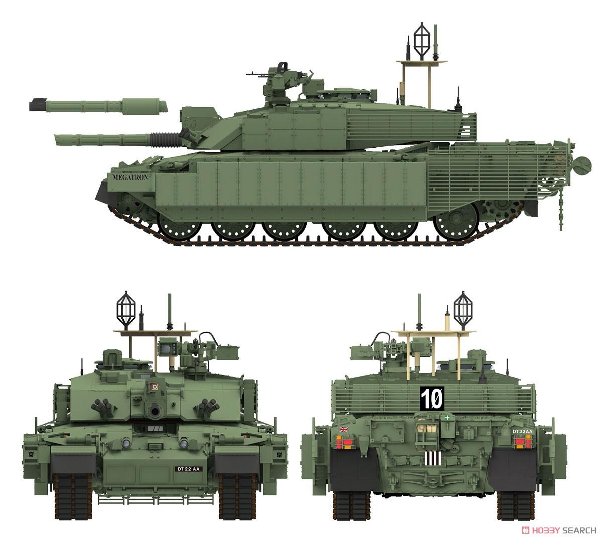 1/35『チャレンジャー2 TES「メガトロン」イギリス軍主力戦車』プラモデル-009