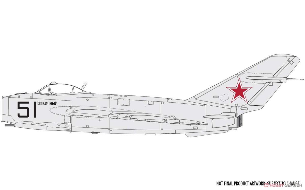 1/72『ミコヤン・グレヴィッチ MiG-17 フレスコ(瀋陽飛機工廠 J-5)』プラモデル-007
