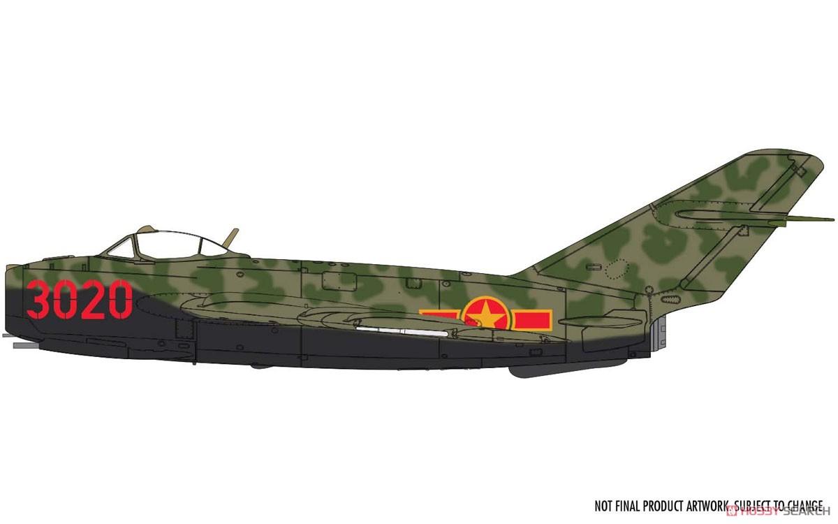 1/72『ミコヤン・グレヴィッチ MiG-17 フレスコ(瀋陽飛機工廠 J-5)』プラモデル-008