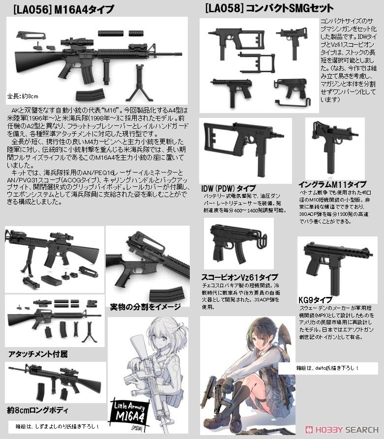 リトルアーモリー LA058『コンパクトSMGセット』1/12 プラモデル-012