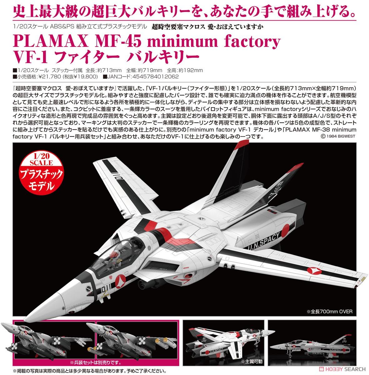 PLAMAX MF-45 minimum factory『VF-1 ファイター バルキリー』1/20 プラモデル-007