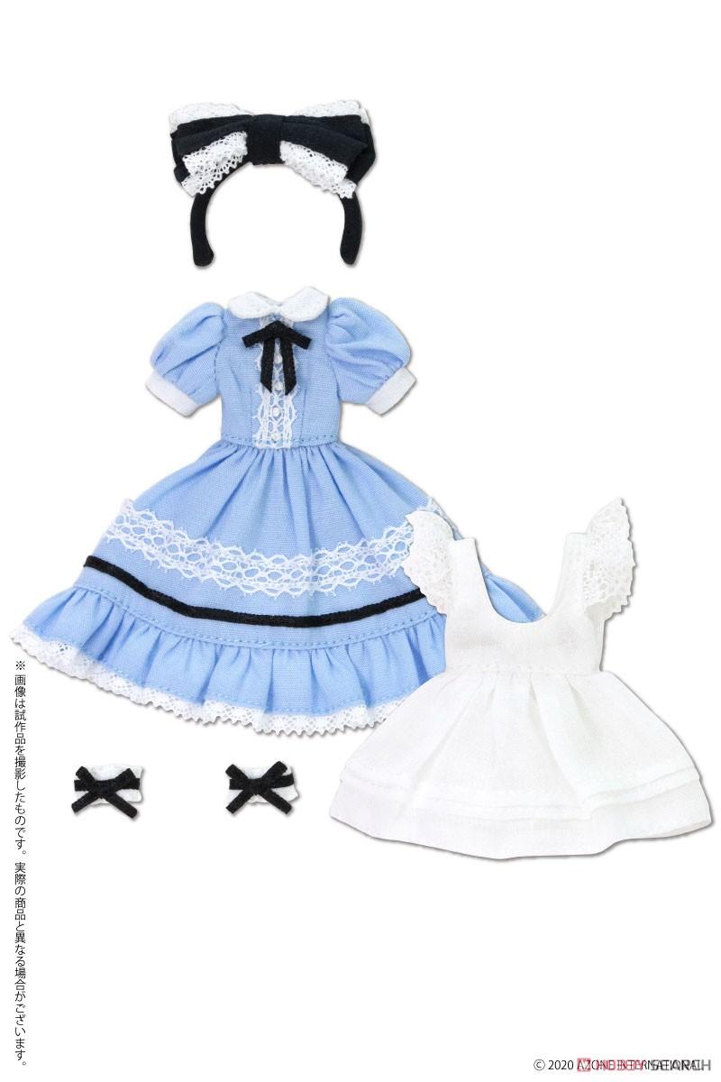 ピコニーモサイズ コスチューム『夢見る少女のアリスドレスセット【アリスブルー】』1/12 ドール服-001