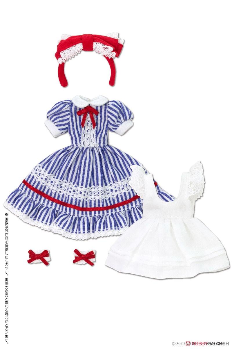 ピコニーモサイズ コスチューム『夢見る少女のアリスドレスセット【アリスブルー】』1/12 ドール服-004