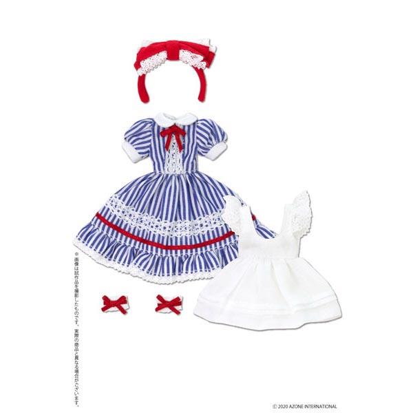 ピコニーモサイズ コスチューム『夢見る少女のアリスドレスセット【ブルーストライプ】』1/12 ドール服