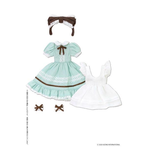 ピコニーモサイズ コスチューム『夢見る少女のアリスドレスセット【ミントグリーン】』1/12 ドール服