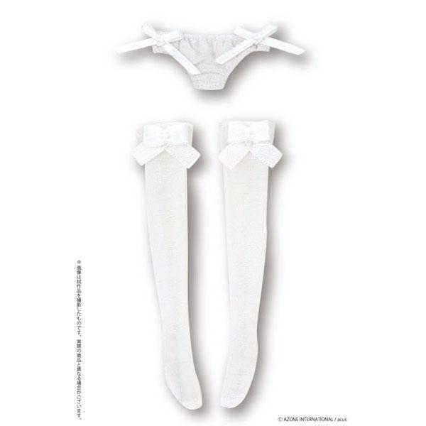 ピコニーモサイズ コスチューム『リボンシースルーぱんつ&くつしたセット(ホワイト)』1/12 ドール服