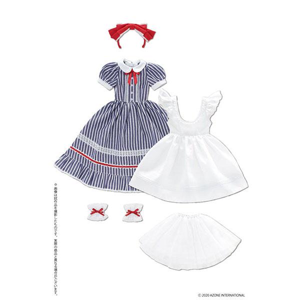 50cmコレクション『夢見る少女のアリス ドレスセット(ブルーストライプ)』1/3 ドール服