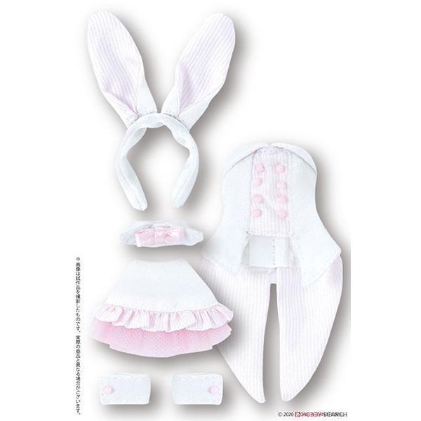ピコニーモサイズ コスチューム『ハッピィ☆バニードレスセット(ホワイト×ピンク)』1/12 ドール服