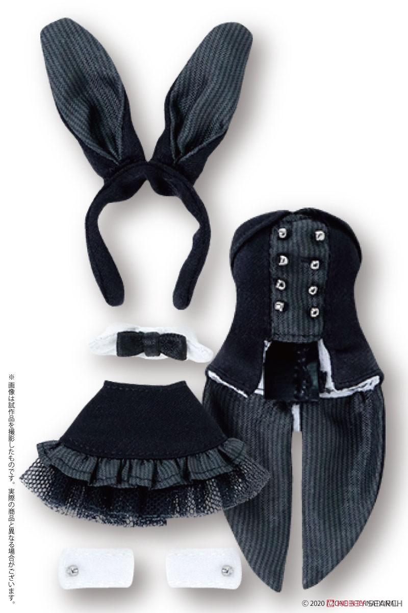 ピコニーモサイズ コスチューム『ハッピィ☆バニードレスセット(ブラック)』1/12 ドール服-004