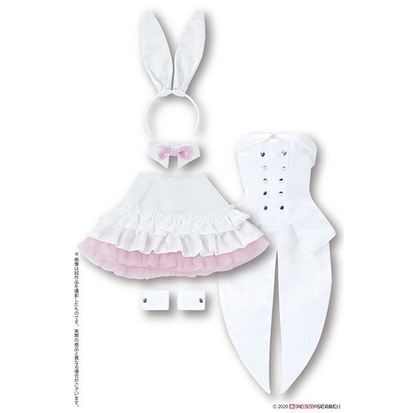 50cmコレクション『ハッピィ☆バニードレスセット(ホワイト×ピンク)』1/3 ドール服