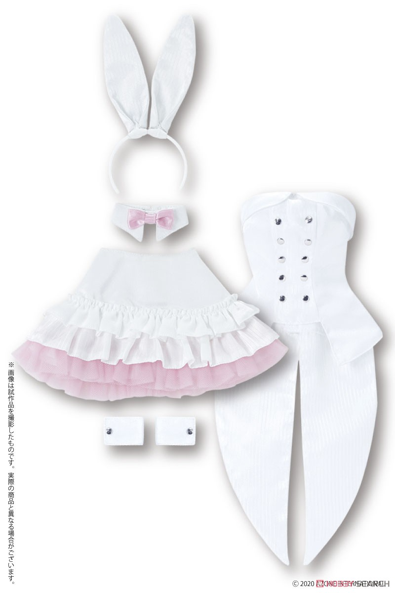 50cmコレクション『ハッピィ☆バニードレスセット(ホワイト×ピンク)』1/3 ドール服-001