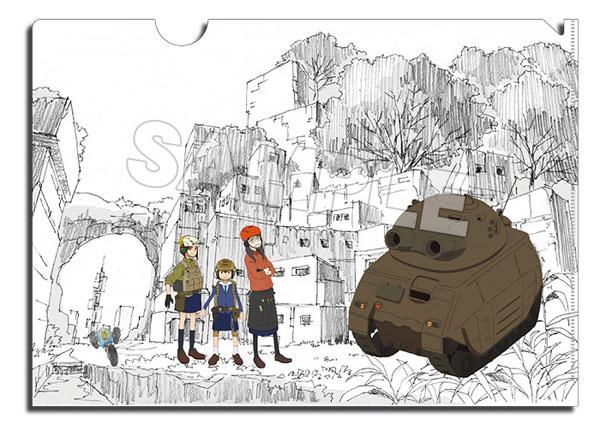 映像研には手を出すな!『戦車の世界&個人防衛戦車&ミリタリー電撃三人娘』A4クリアファイル