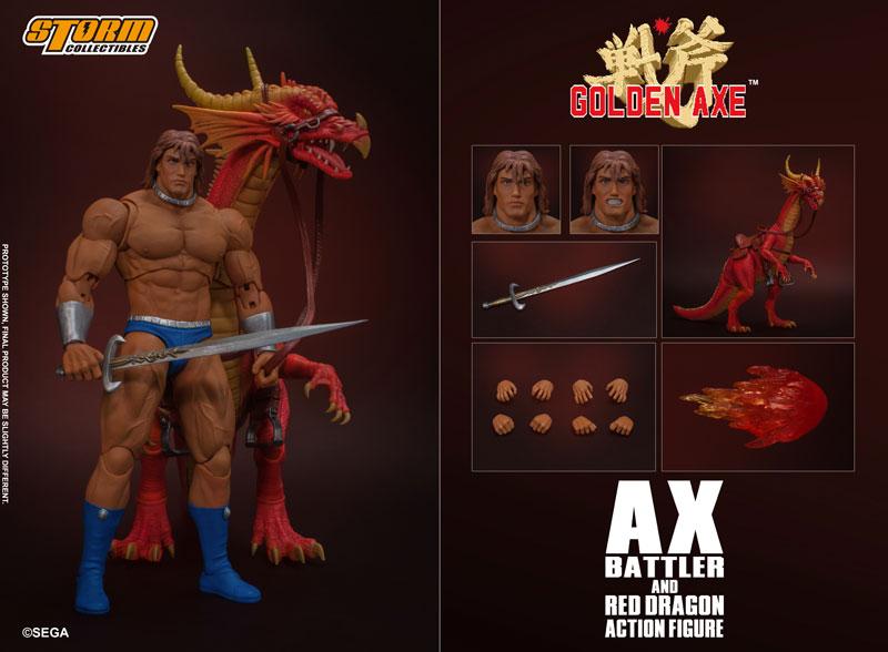 ゴールデンアックス『アックス=バトラー & レッドドラゴン』 アクションフィギュア-001