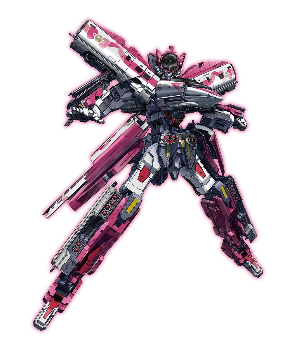 新幹線変形ロボ シンカリオン『DXS シンカリオン ハローキティ』可変プラレール-008