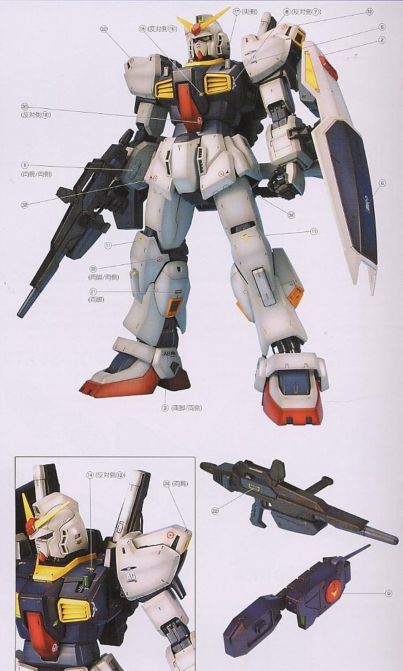 【再販】PG 1/60『RX-178 ガンダムMk-II(白・エゥーゴカラー)』プラモデル-012