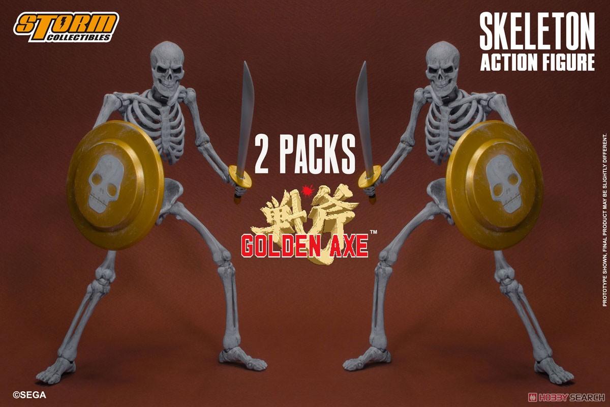 ゴールデンアックス『スケルトン 2パック』アクションフィギュア-001