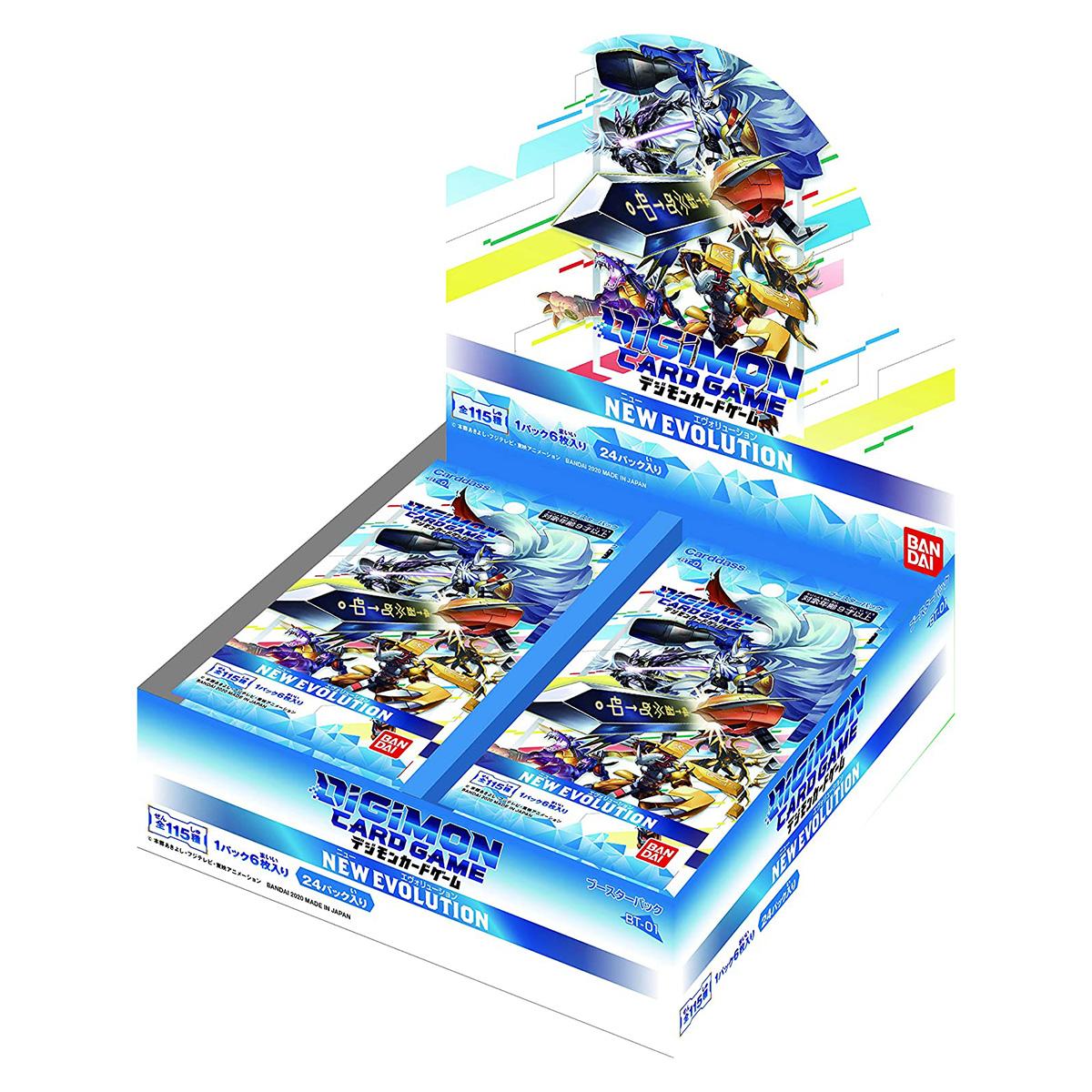 デジモンカードゲーム『ブースターver.1.0 NEW EVOLUTION』24パック入りBOX-001