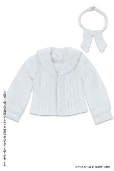 ピュアニーモ用 PNXS『セーラーリボンブラウスII ホワイト×ホワイト』1/6 ドール服