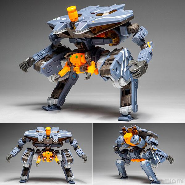 """ROBOT BUILD『RB-05 CARBE """"棘蟹""""(ユニバーサルカラーVer)』駆機製ロボットビルド 可動フィギュア"""