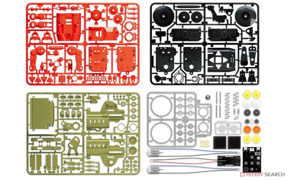 エレキット『コードランナー』ロボット工作キット-005