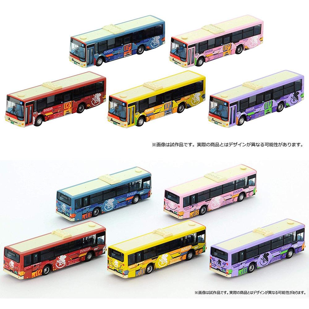 ザ・バスコレクション『箱根登山バス エヴァンゲリオンバス5台セット』1/150 Nゲージ-001
