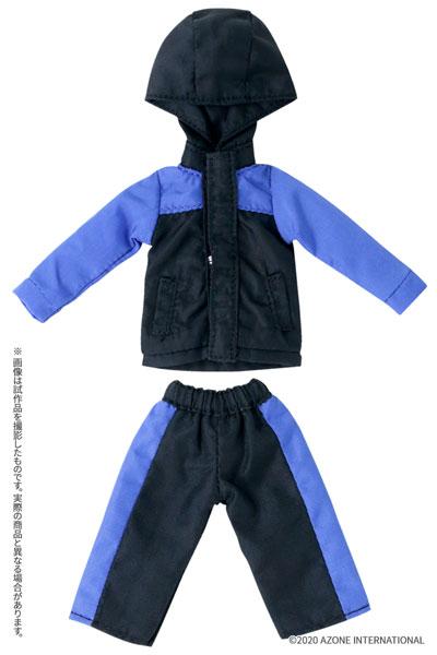 ピコニーモサイズ コスチューム『マウンテンパーカー&ショートパンツセット[ブラック×ブルー]』1/12 ドール服