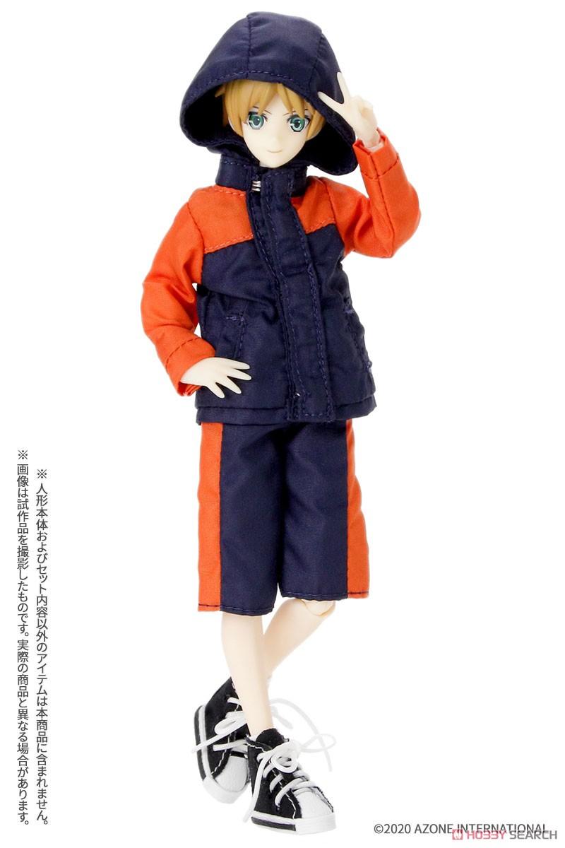 ピコニーモサイズ コスチューム『マウンテンパーカー&ショートパンツセット[ブラック×ブルー]』1/12 ドール服-006