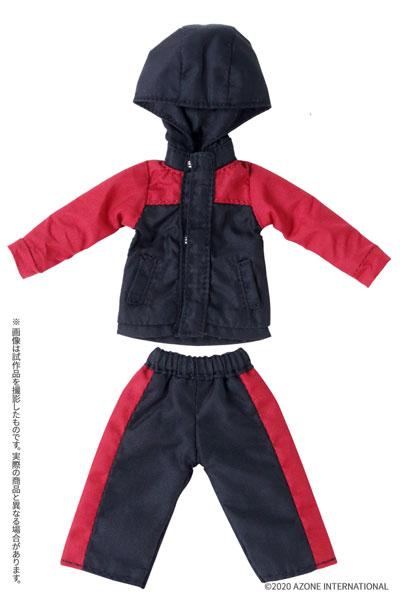 ピコニーモサイズ コスチューム『マウンテンパーカー&ショートパンツセット[ブラック×レッド]』1/12 ドール服