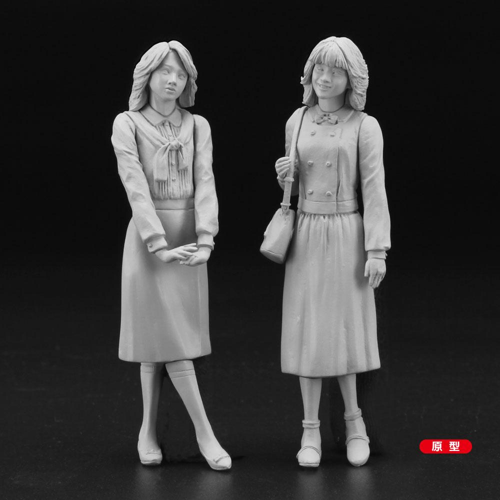 1/24『80's ガールズ フィギュア(2体セット)』プラモデル-003