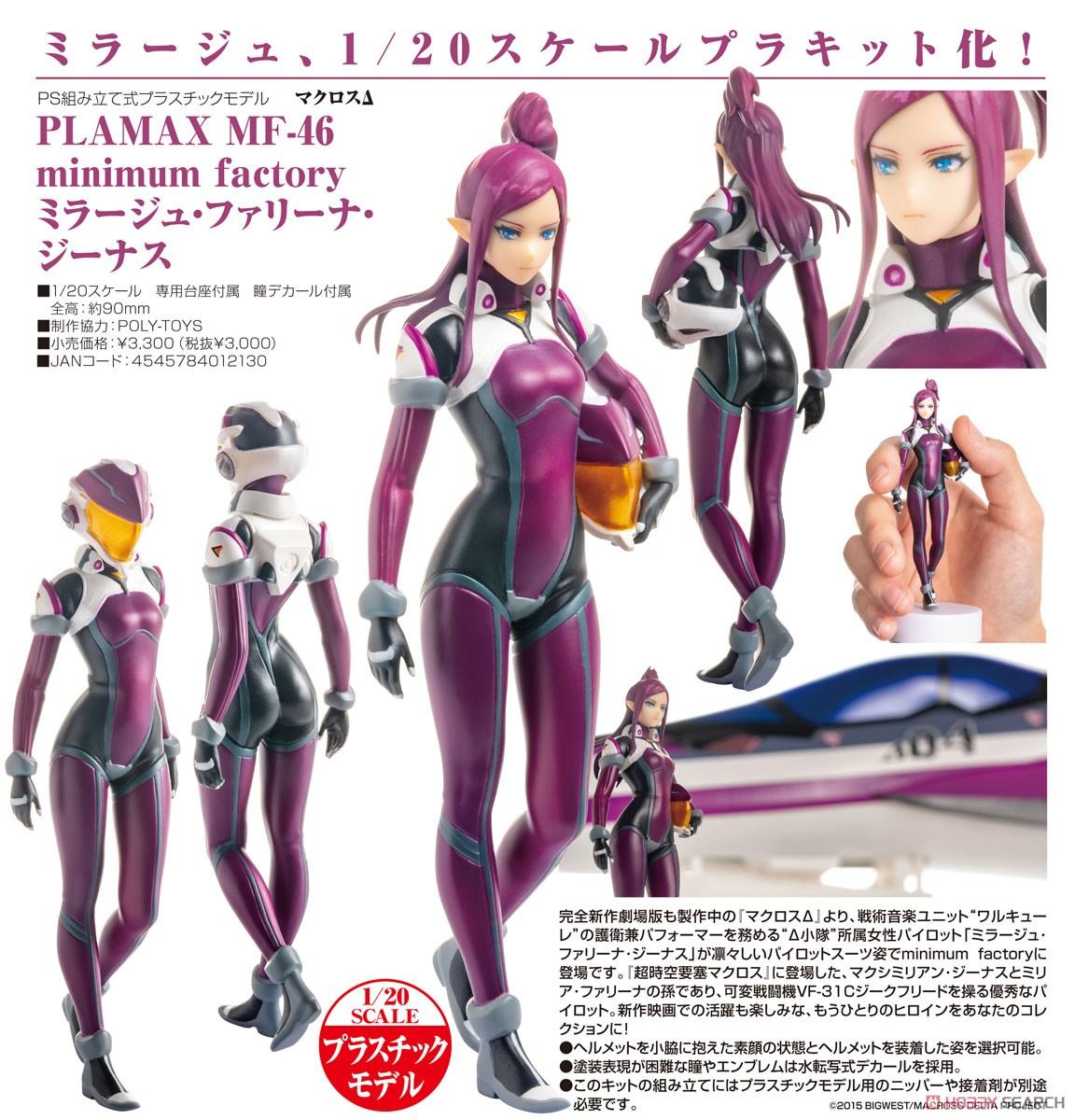 PLAMAX MF-46 minimum factory『ミラージュ・ファリーナ・ジーナス』マクロスΔ 1/20 プラモデル-009