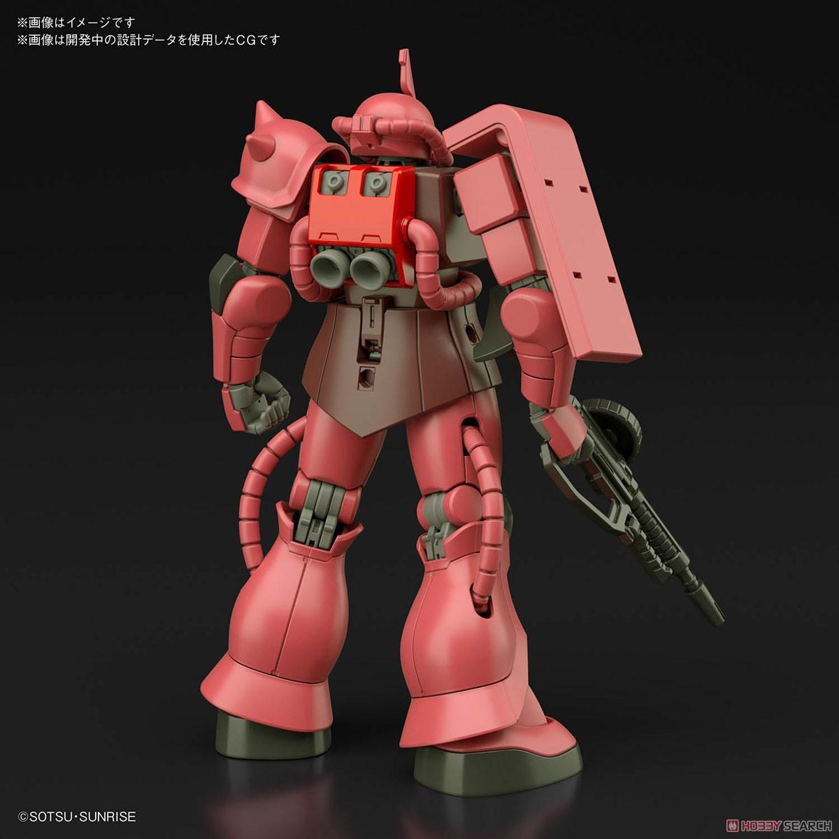 HGUC 1/144『シャア専用ザクII』プラモデル-002
