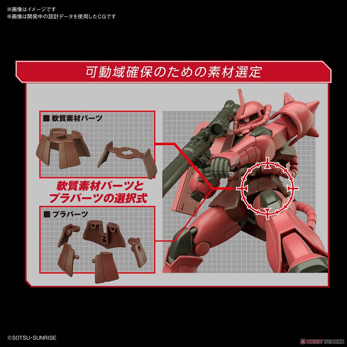 HGUC 1/144『シャア専用ザクII』プラモデル-004