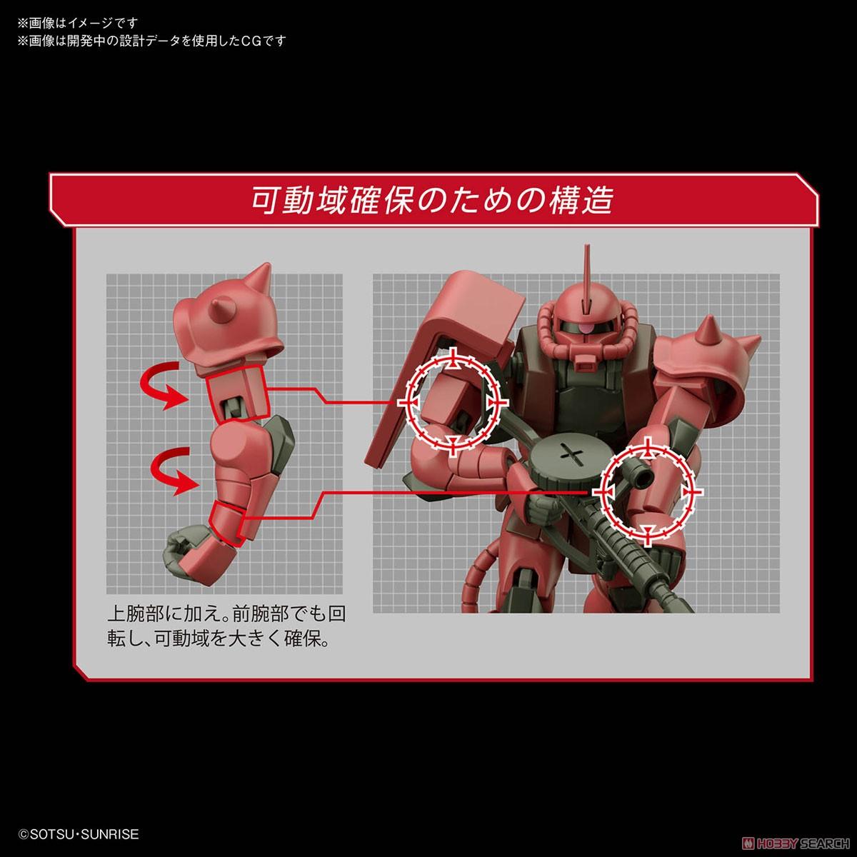 HGUC 1/144『シャア専用ザクII』プラモデル-005