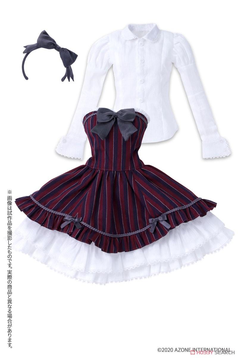 50cmコレクション『赤い鳥のカノンドレス[ブラックストライプ]セット』1/3 ドール服-005