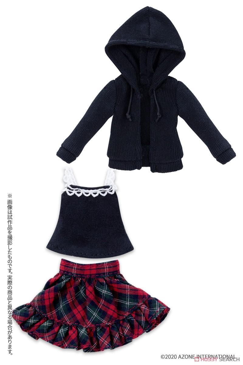 ピコニーモサイズ コスチューム『ガールズホリデイセット2020[ブラック×レッド]』1/12 ドール服-001