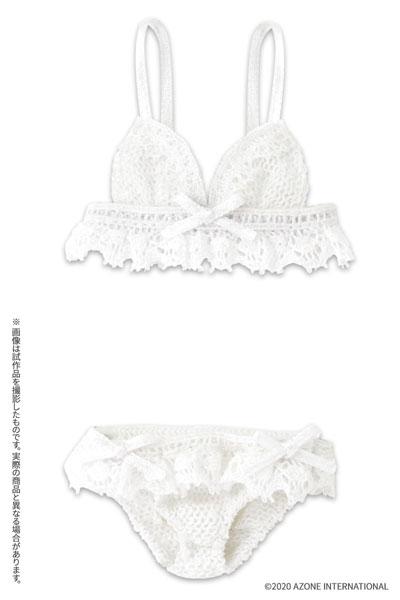 ピュアニーモ用 PNM『プルミエールブラ&ショーツ[ピュアホワイト]セット』1/6 ドール服