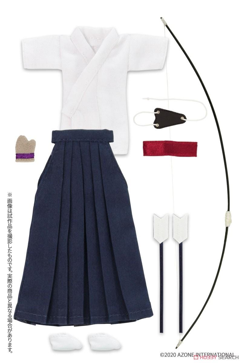 ピコニーモサイズ コスチューム『弓道着セット 白×紺』1/12 ドール服-001