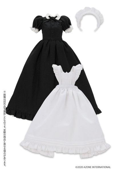 ピュアニーモ用 PNS『クラシカルロングメイド服(半袖)[ブラック]セット』1/6 ドール服