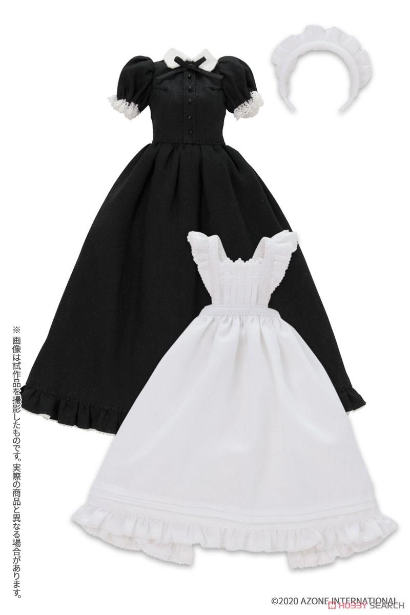 ピュアニーモ用 PNS『クラシカルロングメイド服(半袖)[ブラック]セット』1/6 ドール服-001