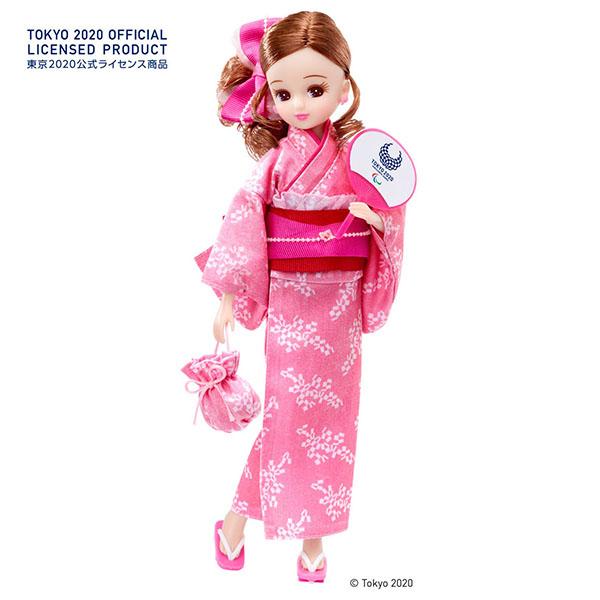 【限定販売】リカちゃん『リカちゃん 浴衣(東京2020パラリンピックエンブレム)』完成品ドール