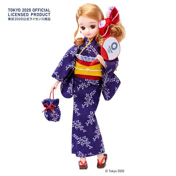 【限定販売】リカちゃん『リカちゃん 浴衣(東京2020オリンピックエンブレム)』完成品ドール